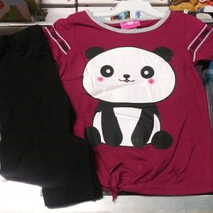 Other - Nwt set 2pc leggings and top 🐼